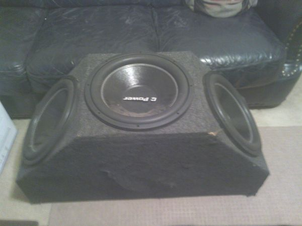 3 15 Q-Power 1500 Watt Subs in the BOX - $160 (Downtown Houston)