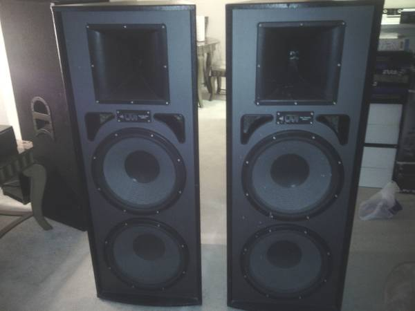 2 dj speakers 15 PRO STUDIO MACH II - $370 (houston )