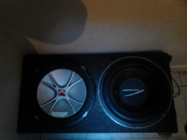 Two 12 in speakers wbox - $85 (richmond)