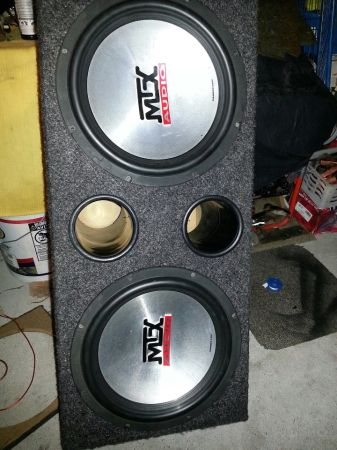 CHEAP (2) MTX 12s SUBS THUNDERS 5500 SERIES SOUND REAL LOUD - $95 (HOUSTON)