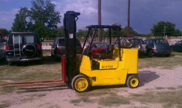 2004 Hyster forklift 15000 lb LP gas 3stage WORKS GRATE hours 5300 - $10 (or best offer or trades nw )