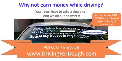 Earn  300 -  1500 per month driving as usual