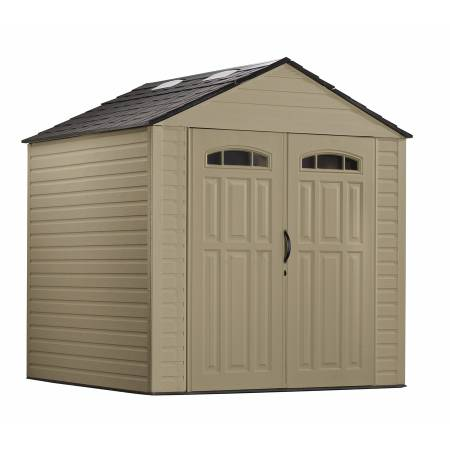 Rubbermaid Roughneck 7-ft x 7-ft Gable Storage Shed - $500 (Pearland )