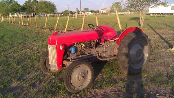 8n ford tractor with brush hog,box blade and cultivator - $3000 (needville texas( trade))