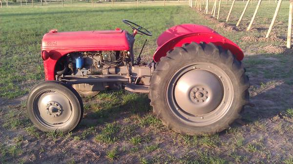 8N tractor with brush hog, box blade and c - $3200 (needville texas(trade))