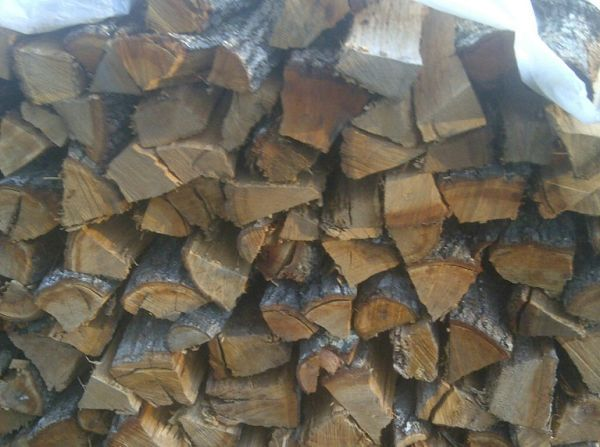 Firewood BBQ Wood (Split Seasoned Oak) (Conroe Woodlands FM1488)