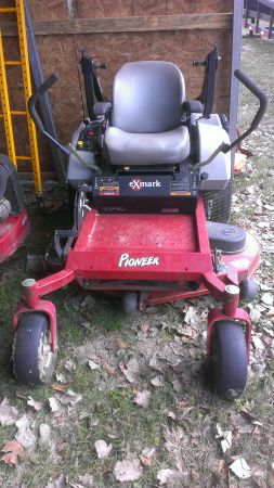 2011 XMark Commercial lawnmower 48 with trailer - $4500
