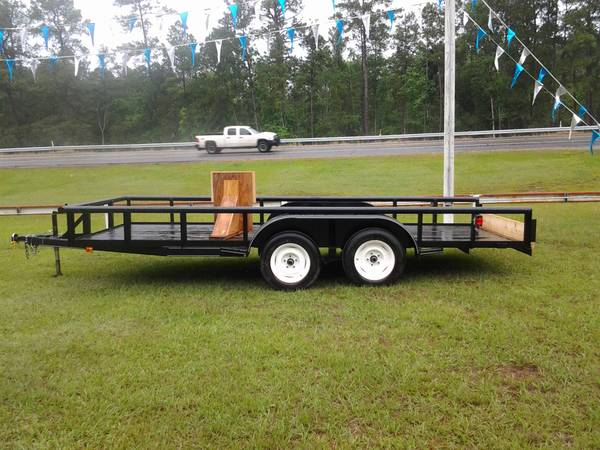 16 New Pipe top tandem trailer - $1375 (livingston)