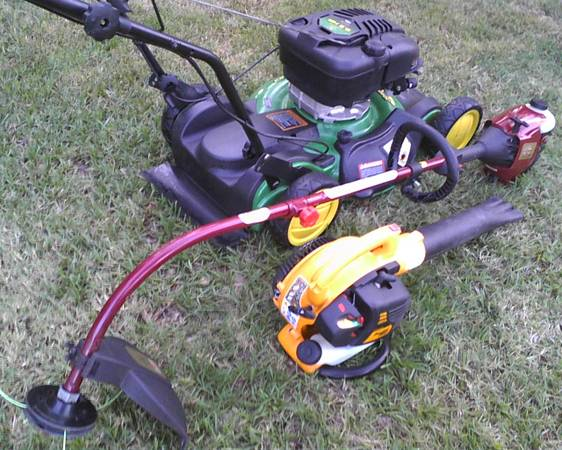 ( LAWN PACKAGE ) SELF PROPELLED MOWER BLOWER TRIMMER (PORTER HWY 59 1314)