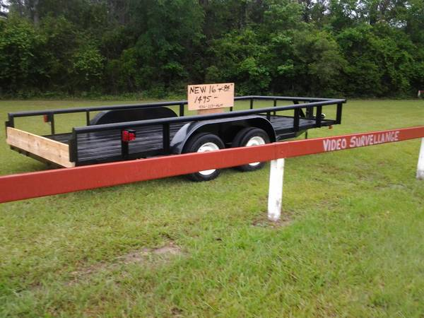 New 16 x 84pipe top tandem trailer - $1495 (livingston)