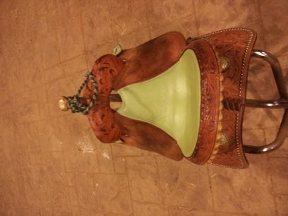 15 in Billy Cook NBHA Series Barrel Saddle w Ostrich Seat Limited Edition - $1000 (Montgomery)
