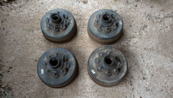 Trailer wheels tires and hubs Make offer - $500 (Brookshire)