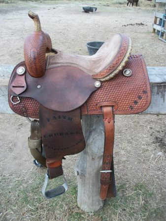 Awesome 13 Corriente Barrel Saddle for sale - $425 (Bellville)