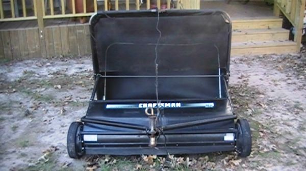 Lawn sweeper Craftsman 42 inch Tow Lawn Sweeper - $130 (MagnoliaTodd Mission)