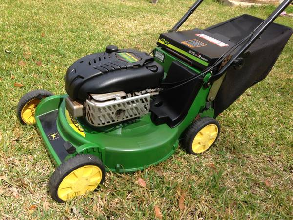 JOHN DEERE 21 SELF PROPELLED LAWMOWER WITH BAGGER - $225 (SOUTH HOUSTON)