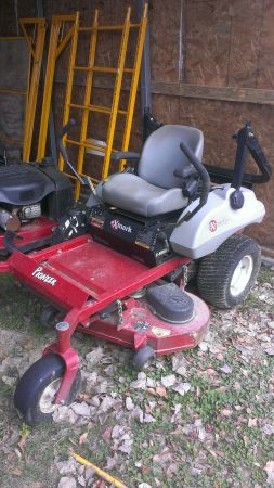 2011 commercial XMark lawnmower 48 with trailer - $4500