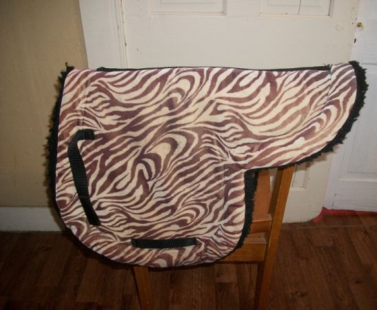 Zebra Print English Saddle Pad for sale - $20 (Bellville)