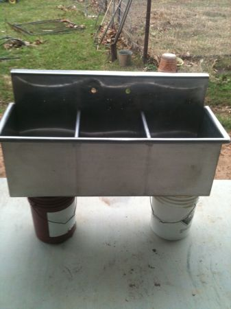 STAINLESS STEEL 3 COMPARTMENT SINK - $350 (KATY COLUMBUS)