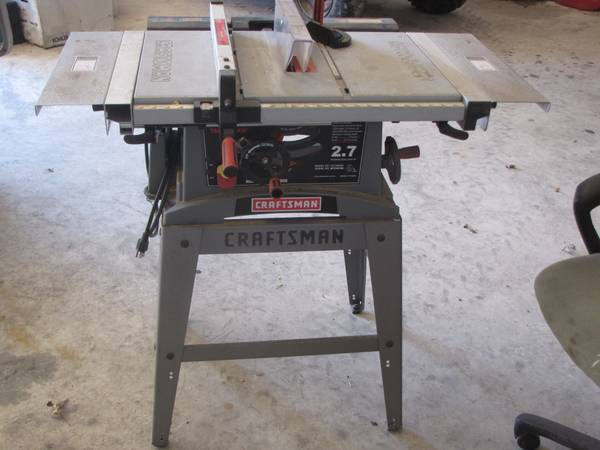Craftsman 10 table saw 2.7 hp - $150 (santa fe)