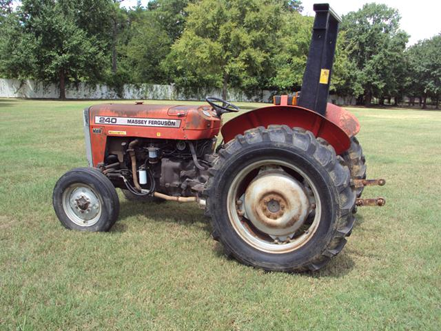 Massey Ferguson 240 diesel tractor with 5 implements