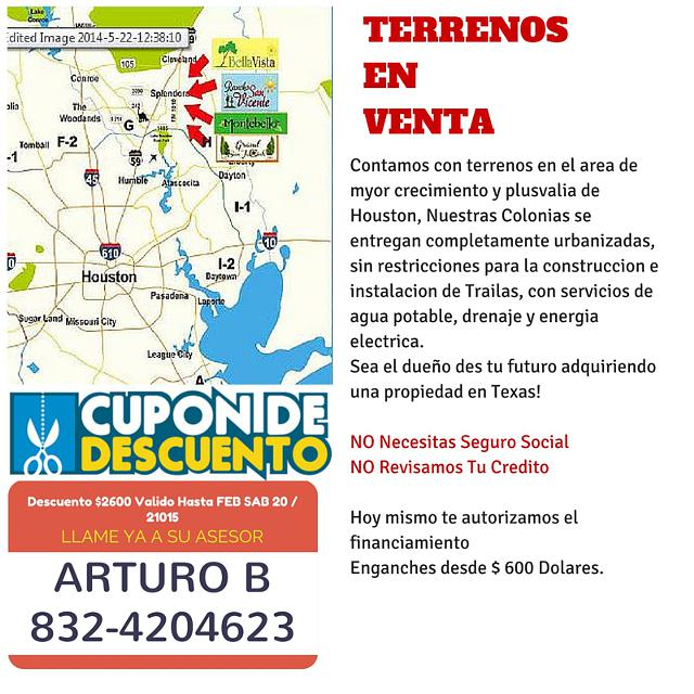 Terrenos en Venta New Caney Tx