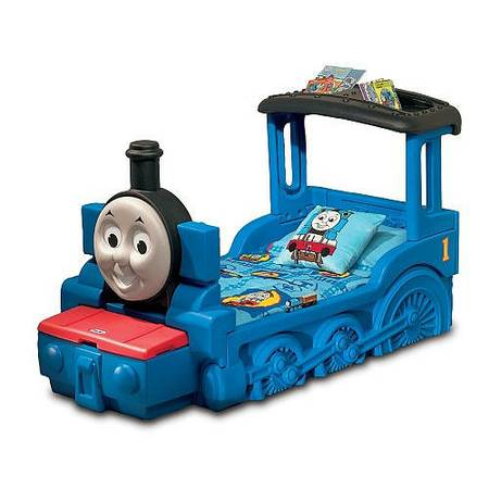 thomas train toddler bed and mattress - $120 (spring)