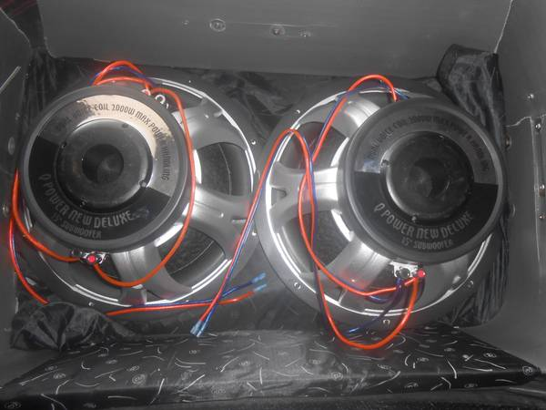 LOW PRICE 2- 15 Q-POWER 2000W SUBWOOFER Deluxe Series Dual Voice$180 (houston tx)