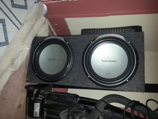 12 speakers and  rockford and xplod - $150 (baytown)