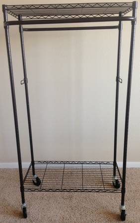 Double Hanging Garment Rack For Sale
