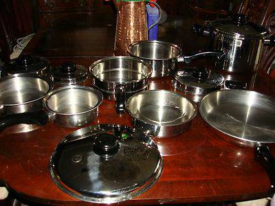 Saladmaster 12 Piece Waterless Cookware Set Surgical Stainless Steel - $1100 (NW)