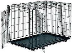 Double Door Folding Dog Crate XL - $50 (Magnolia, Texas)