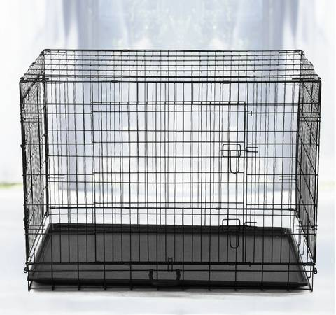 Brand New Wire Folding Metal Dog Crate Kennel Cage Xlarge 48 - $80 (Houston)