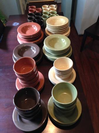 Stoneware Dishes -Complete set in 4 colors from Target - $90 (Tomball)