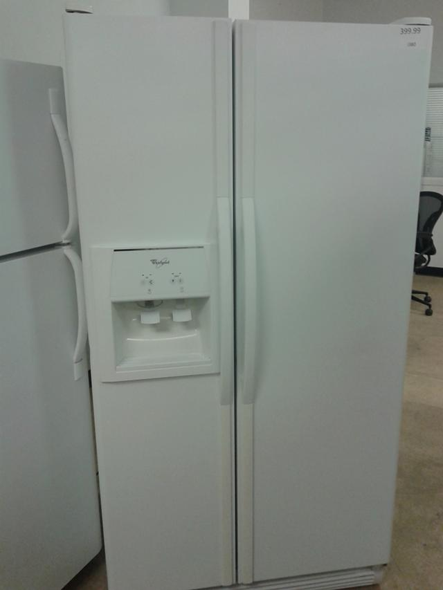 $399, Whirlpool White Side by Side Refrigerator 25 cu.ft.-i380