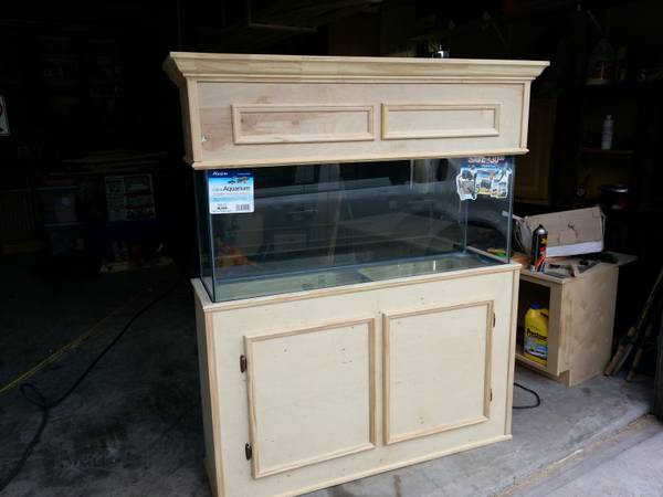 NEW55 gallon fish tank with stand and hood.... -  - $300 (Houston and all surrounding areas)