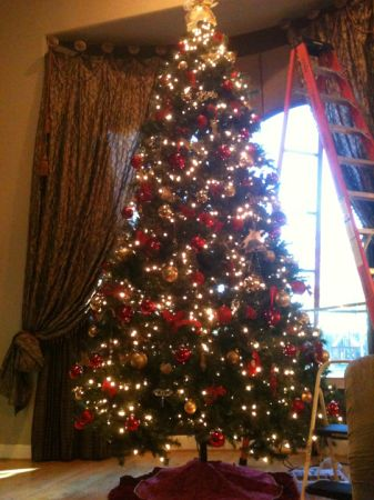 12 FT foot Pre-Lit Christmas Tree - $150 (Tomball Cypress Spring Houston)
