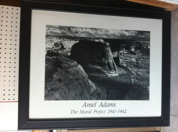 Ansel Adams Framed BW Print - $40 (Kingwood)