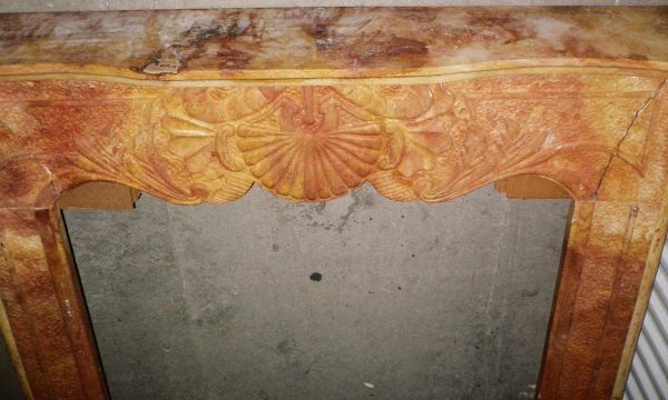 NEW NATURAL CARVED STONE FIREPLACE SURROUND - $199 (10901 nw freeway 77092)
