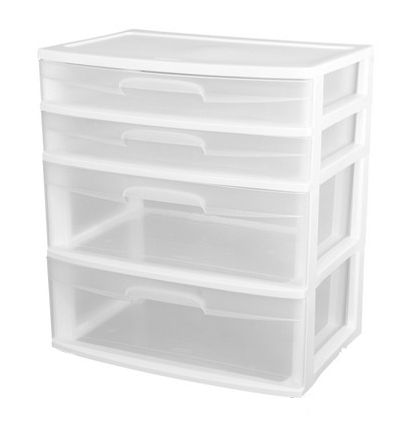 Sterilite 3-Drawer Wide Organizer with See-Through Drawers - $15 (Galleria)