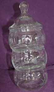 Princess House Crystal Heritage 3-Tier Candy Dish - $9 (WoodlandsSpringGreenspoint)