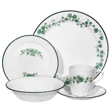 Corelle English Ivy Dishes for 8 custom linens apron other sets - $36 (249 near Vintage Park)