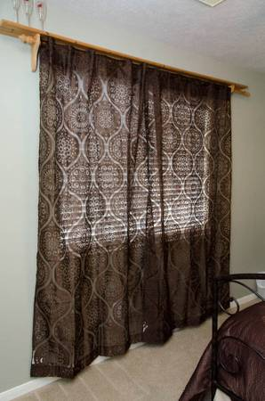 Pier One Sheer Curtains - Two Panels - $15 (Katy)