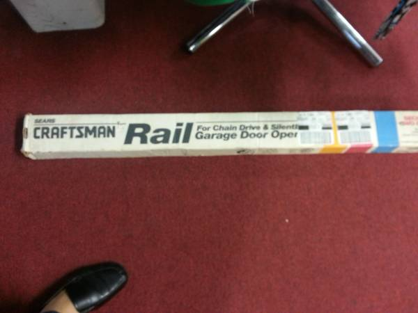 craftmans sears rail for garage door opener  rail new only $25 - $25 (houston sugarland)