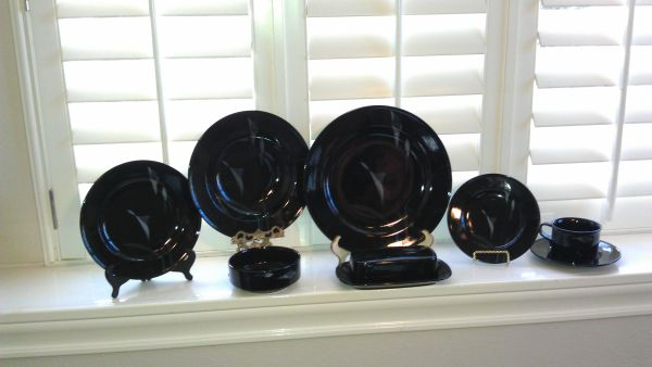 Mikasa Opus Black Dishes - $170 (Sugar Land)