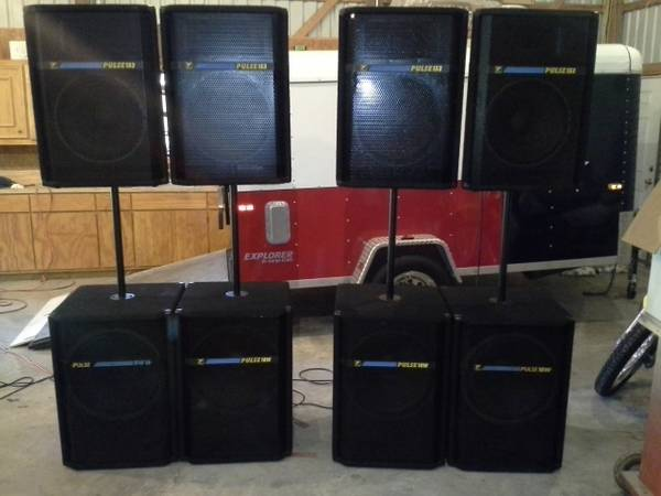 Yorkville Pulse Pa with QSC Amps - $3500 (Rosenberg)