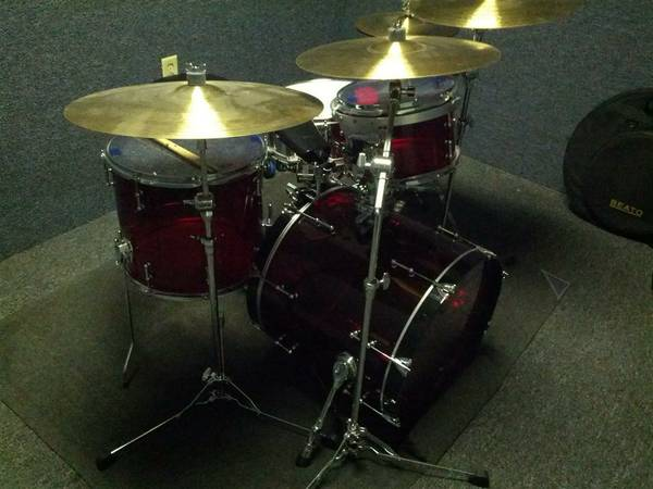 Drum Set 4 Piece Drum Kit Cymbal Stands Pearl RCI Vistalite - $2000 (I-10 and Beltway 8)