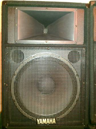 2 Yamaha S1151V main speakers 15 woofer and horn, clean and cared for - $320 (sw houston)