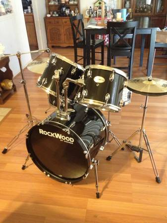 Rockwood 5 piece drum set - $300 (Houston)