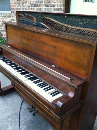 Antique Cable Nelson upright grand piano - $100 (Pearland)