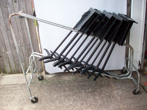 WENGER MUSIC STAND RACK CART - HOLDS WENGER MANHASSET STANDS - $49 (I-45 SOUTH - DIXIE FARM RD)